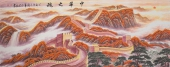 一级美术师周华小八尺长城《中华之魂》