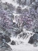 【询价】辽宁美协张振栋四尺竖幅精品山水画《春来暖山崖》