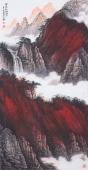 美术家协会山水名家张哲礼四尺竖幅山水《霜积红树醉秋山》