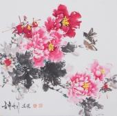 国家一级美术师王凌风四尺斗方牡丹