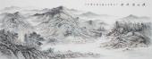 一级美术师山水名家张福民小六尺横幅山水《溪山清远图》