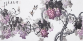 一级美术师黄荣华四尺横幅《紫气东来》