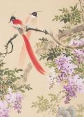河北美协花鸟名家皇甫小喜四尺竖幅花鸟