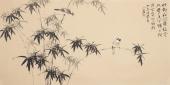 河北美协花鸟名家皇甫小喜四尺横幅竹子花鸟