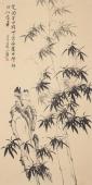 河北美协花鸟名家皇甫小喜四尺竖幅竹子花鸟