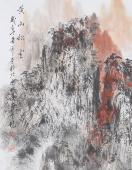 著名山水名家杨秀亮四尺竖幅山水《黄山秋云》