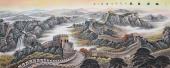 【已售】山水名家牛鸿亮八尺横幅长城字画《雄风万里》
