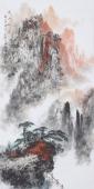 【已售】著名山水名家杨秀亮四尺竖幅山水《黄山秋云》