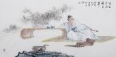 北京美协张春奇四尺人物《李白》