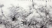 国家一级美术师李成林大六尺冰雪画《冰肌玉骨风雪满》