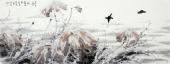 国家一级美术师李成林六尺横福冰雪画《来年又是一池香》