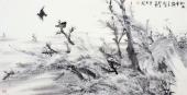 国家一级美术师李成林四尺横幅冰雪《松风雪韵》