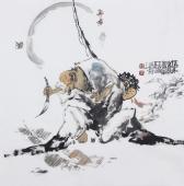 江苏省美协会员李傅宇四尺斗方人物画