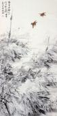 国家一级美术师李成林四尺竖幅冰雪画