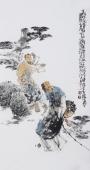 江苏省美协会员李傅宇三尺竖幅人物画《松下问童子》