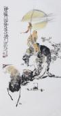 江苏省美协会员李傅宇三尺竖幅人物画