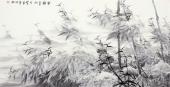 国家一级美术师李成林四尺横幅冰雪画《雪韵》