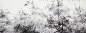 国家一级美术师李成林六尺横福冰雪画《此君倚雪待春风》