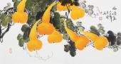花鸟名家黄艺 三尺横幅国画葫芦《福禄图》