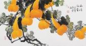 黄艺三尺横幅国画葫芦图《福禄满堂》