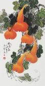 广西美协三尺竖幅葫芦图《福禄图》