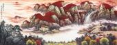 广西美协山水画家张哲礼小六尺国画《鸿运绵长》