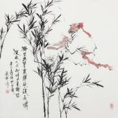 张春奇 斗方《唐人诗意图》 徐悲鸿纪念馆艺术中心理事