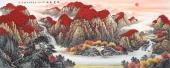广西山水名家张哲礼写意山水画六尺横幅《鸿运千秋》