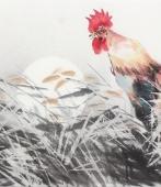 东北鸡王武仲时四尺横幅国画鸡《东方红》
