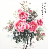 安徽花鸟云志四尺斗方国画牡丹《花开富贵》