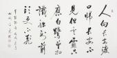 夏广田 四尺书法《人向长安渡口归》著名启功体书法家