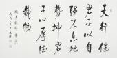 夏广田 四尺书法《天行健君子以自强不息》著名启功体书法家
