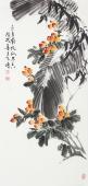 【已售】河北美协王学增 三尺写意花鸟《五月南风瓜果香》