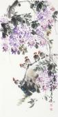 【已售】河北美协王学增 三尺写意花鸟《春之歌》