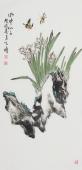 河北美协王学增 三尺写意花鸟《水中仙子》
