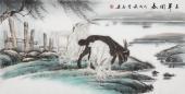 【已售】安徽美协云志四尺工笔动物画《三羊开泰》