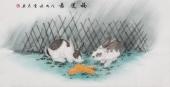 安徽美协云志国画工笔四尺横幅《福运图》