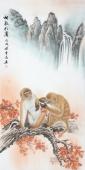 安徽美协云志四尺工笔动物画《相敬如宾》