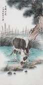 安徽美协云志四尺工笔动物画《吉祥如意》