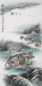 安徽美协云志四尺工笔动物画《母子情深》