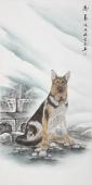 【已售】安徽美协云志四尺工笔动物画《忠义》