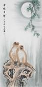 安徽美协云志四尺工笔动物画《金猴呈祥》