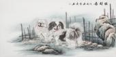 安徽美协云志四尺工笔动物画《旺财图》