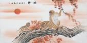 安徽美协云志四尺工笔动物画《盼归》