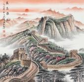 广西美协欧阳四尺斗方写意国画《万里雄风》