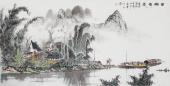 张春奇 四尺写意山水画《苗乡情思》 徐悲鸿纪念馆艺术中心理事