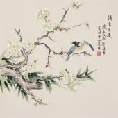北京美协凌雪四尺斗方工笔画《清香久远》
