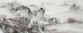 【已售】云浩 写意水墨山水《碧涧流红叶 青林点白云 》 广西美术家协会会员