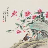 北京美协凌雪四尺斗方工笔画《安居乐业》