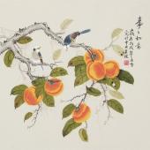 北京美协凌雪四尺斗方工笔画《事事如意》